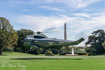 Marine One Lands on The South Lawn