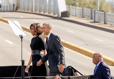 President Obama and First Lady Michelle Obama, and Congressman John Lewis