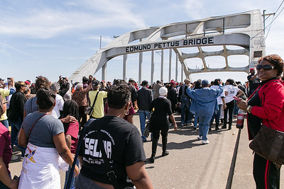 The March has started early, because security could never clear the bridge.