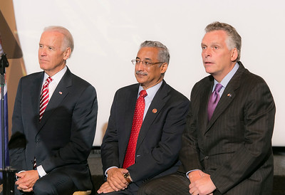 VP Joe Biden,  Cong. Bobby Scott and Gov. Terry McAuliffe