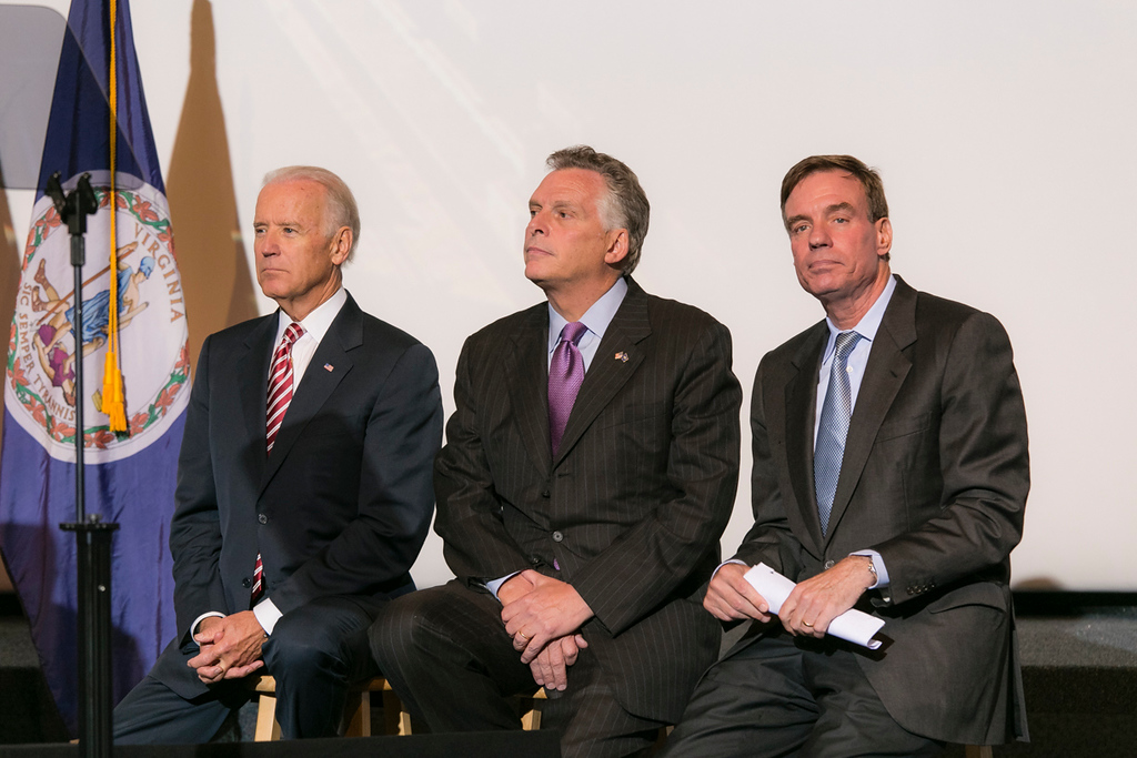 VP Joe Biden,  Gov. Terry McAuliffe, and Sen. Mark Warner