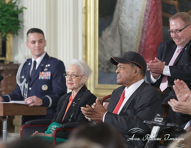Katherine G. Johnson and Willie Mays