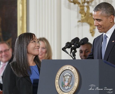 Laurie Yasui Accepts Medal of Freedom for her Father