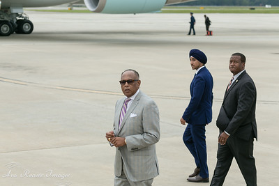 Headed to Welcome President Obama to Richmond