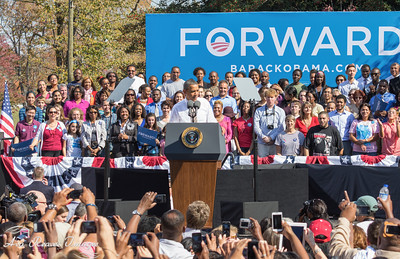 President Obama at The Carillon in Byrd Park in RVA.