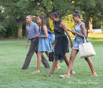 The Obama's return from vacation