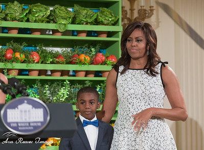 Samuel Davis and First Lady Michelle Obama