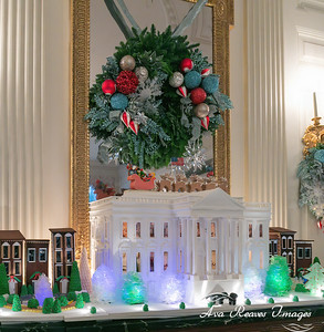 White House Gingerbread House Replica