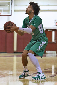 Shane Williams from Brick takes a three point shot as Brick Township High School takes on Toms River South High School in a boys varsity basketball game held in Toms River on January 3,2019. (MARK R. SULLIVAN /THE OCEAN STAR)