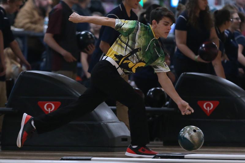Anthony Caruso, Brick Memorial High School boys bowling. (MARK R. SULLIVAN /THE OCEAN STAR)