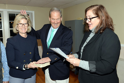 Mayor E. Laurence White of Mantoloking, New Jersey is seen being sworn-in to office on 01/03/2019. (STEVE WEXLER/THE OCEAN STAR).