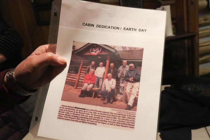 Artifacts in the Bennett Cabin in Point Pleasant Boro, NJ on 1/9/19.[DANIELLA HEMINGHAUS   THE OCEAN STAR]