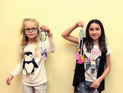 boro library dream catchers// Chloe Wall 8 of brick and Isabella Zambuto 9 of Pt Pleasant