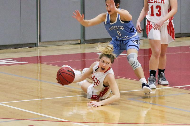 no.11, Carleigh BurnsPoint Pleasant Beach girls basketball v/s Mater Dei in Point Pleasant Beach, NJ on 1/31/19.[DANIELLA HEMINGHAUS | THE OCEAN STAR]