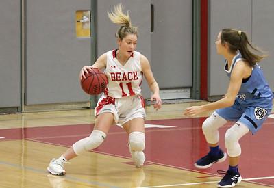 no.11, Carleigh Burns Point Pleasant Beach girls basketball v/s Mater Dei in Point Pleasant Beach, NJ on 1/31/19. [DANIELLA HEMINGHAUS   THE OCEAN STAR]