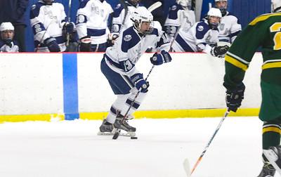 no.13, James Conte Manasquan hockey v/s Red Bank Catholic in Wall, NJ on 2/6/19. [DANIELLA HEMINGHAUS   THE COAST STAR]