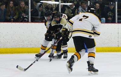 no.24, Brett Nelson. Point Pleasant Boro Hockey v/s Saint John Vianney in the Handchen Cup in Wall, NJ on 2/13/19. [DANIELLA HEMINGHAUS   THE OCEAN STAR]