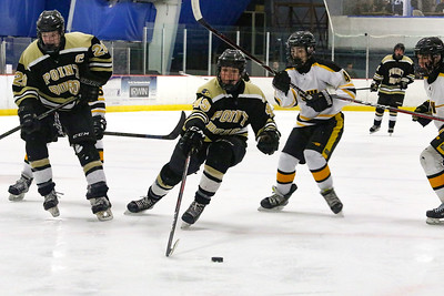 no.49, Aidan Zielaznicki Point Pleasant Boro Hockey v/s Saint John Vianney in the Handchen Cup in Wall, NJ on 2/13/19. [DANIELLA HEMINGHAUS   THE OCEAN STAR]