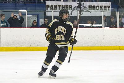 no.22, Matt Buccino Point Pleasant Boro Hockey v/s Saint John Vianney in the Handchen Cup in Wall, NJ on 2/13/19. [DANIELLA HEMINGHAUS   THE OCEAN STAR]