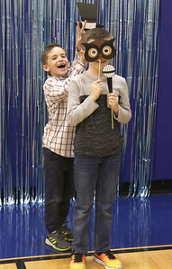 "Cole mayer and Sean Brandle goofing around. Bay Head Elementary School's ""Grandfriends Day"" event in Bay Head, NJ on 2/21/19. [DANIELLA HEMINGHAUS 