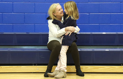 "Paula Berko hugging her granddaughter Charlee Robinson. both from Bay head. Bay Head Elementary School's ""Grandfriends Day"" event in Bay Head, NJ on 2/21/19. [DANIELLA HEMINGHAUS 