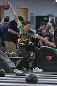 Brick Township Memorial High School bowling at Ocean Lanes in Lakewood on Friday November 30,2018 (MARK R. SULLIVAN/THE OCEAN STAR)