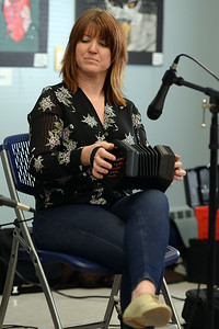"Shannon Dunne of the traditional Celtic band ""Daoine"" plays the Concertina during the performance given at the Ocean County Library, Brick Branch, on 03/09/2019. (STEVE WEXLER/THE OCEAN STAR)."