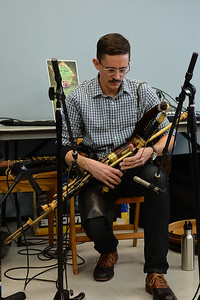 "Brian Szura plays the Yileann Pipes(Irish Bagpipe) during the performance of the traditional Celtic band ""Daoine"" at the Ocean County Library, Brick Branch on 03/09/2019. (STEVE WEXLER/THE OCEAN STAR)."