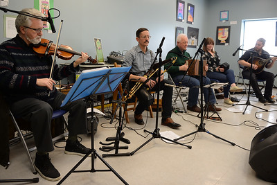 "The traditional Celtic band, ""Daoine"" conducted a performance of traditional Gaelic Irish tunes at the Ocean County Library, Brick Branch on 03/09/2019. (STEVE WEXLER/THE OCEAN STAR)."