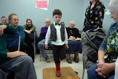 "4 year old Connor Reynolds of Spring Lake, NJ performed a few Dance renditions with the Celtic Band ""Daoine"" during their performance at the Ocean County Library, Brick Branch on 03/09/2019. (STEVE WEXLER/THE OCEAN STAR)."