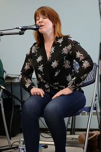 "Shannon Dunne of the traditional Celtic band ""Daoine"", sings a traditonal Irish song during the group's performance at the Ocean County Library, Brick Branch on 03/09/2019. (STEVE WEXLER/THE OCEAN STAR)."