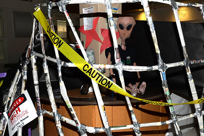 The Antrim School in Point Pleasant Beach, NJ hosted an Innovation Fair with visually stimulating projects constructed and presented by the students which included an Area 51 Maze and  Space Alien on 03/14/2019. (STEVE WEXLER/THE OCEAN STAR).