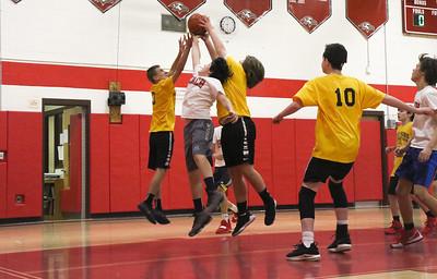 Point Pleasant Beach v/s Point Pleasant Boro boys rec basketball game in Point Pleasant Beach, NJ on 2/27/19. [DANIELLA HEMINGHAUS | THE OCEAN STAR]