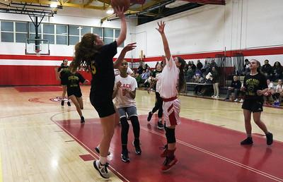 no.5, Theresa Dejacimo Point Pleasant Beach v/s Point Pleasant Boro rec basketball game in Point Pleasant Beach, NJ on 2/27/19. [DANIELLA HEMINGHAUS | THE OCEAN STAR]