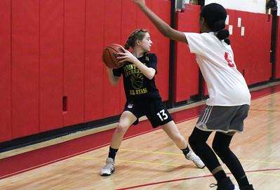 no.2, Bridget Henry Point Pleasant Beach v/s Point Pleasant Boro rec basketball game in Point Pleasant Beach, NJ on 2/27/19. [DANIELLA HEMINGHAUS | THE OCEAN STAR]