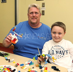 BORO Lego Club// Kyle Kelly 7 and his dad Kevin Kelly of Pt. Beach played legos together