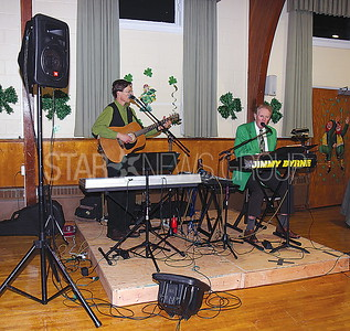 Bay Head st. patricks dinner party 03/11/2017 from L to R: Jimmy Byrnes Jr. and Jimmy Byrnes Sr.
