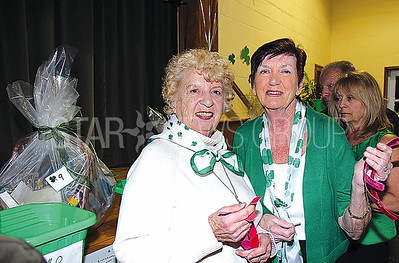 Bay Head st. patricks dinner party 03/11/2017 from L to R: Annette Luccioni and Pat Murray from Brick