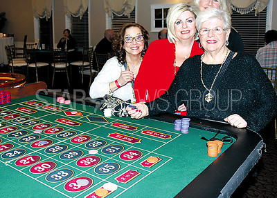 BORO casino night at Spring Lake Manor 03/11/2017 from L to R: Diane Paris, Marissa Ullrich, Stephanie Prezioso all from Point