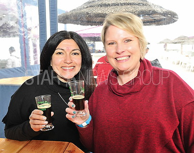 PT BEACH  MARTELL'S BEERS ON THE BEACH HELEN RICHALDI OF WAYNE, NJ AND STEPHANIE KORNAS OF NUTLEY, NJ