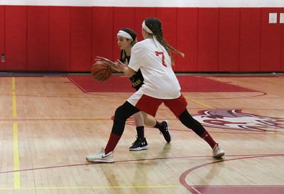 no.7, Emily Cavanaugh Point Pleasant Beach v/s Point Pleasant Boro rec basketball game in Point Pleasant Beach, NJ on 2/27/19. [DANIELLA HEMINGHAUS | THE OCEAN STAR]