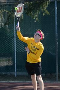Point Pleasant Boro High School Boy's Varsity Tennis Player in his match against Brick Memorial High School on 04/04/2019. (STEVE WEXLER/THE OCEAN STAR)