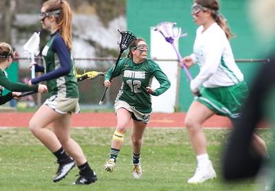 Carly Marotta Brick v/s Brick Memorial girl's lacrosse in Brick, NJ on 4/11/19. [DANIELLA HEMINGHAUS   THE OCEAN STAR]