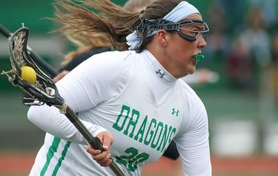no.20, Ryleigh Finelli  Brick v/s Brick Memorial girl's lacrosse in Brick, NJ on 4/11/19. [DANIELLA HEMINGHAUS   THE OCEAN STAR]