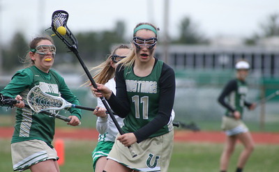 no.11, Katelyn Reilly Brick v/s Brick Memorial girl's lacrosse in Brick, NJ on 4/11/19. [DANIELLA HEMINGHAUS   THE OCEAN STAR]