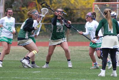 no.23, Sophia Cressman Brick v/s Brick Memorial girl's lacrosse in Brick, NJ on 4/11/19. [DANIELLA HEMINGHAUS   THE OCEAN STAR]