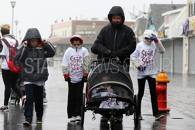 The Stroll to the Shore for a Cure charity walk to help fight multiple Myeloma took place along the Jenkinson's Boardwalk in Point Pleasant Beach on Sunday April 15, 2018. (MARK R. SULLIVAN /THE OCEAN STAR)