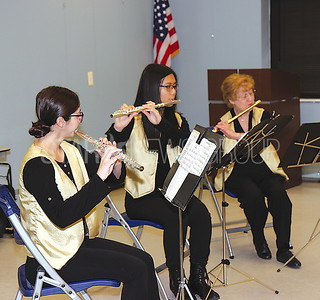 Festive Flutes 30th Anniversary Program BRICK 04/01/2017 from L to R: Cynthia Capotosto, Kylie Tang, Donna Decotiis