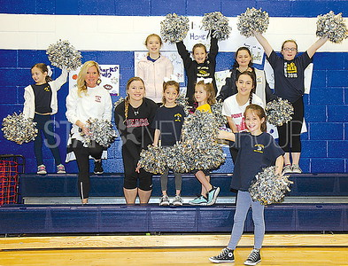 Bay Head Elementary School Open House 04/01/2017 from L to R: June Monicello teacher and cheerleading coach with the Bay Head ES Cheer Club