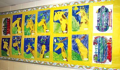 Boro Nellie Bennett Elementary Art Show 04/27/2017: 1st grade artworks